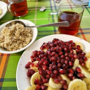 Värikästä aamupalaa Irkutskissa