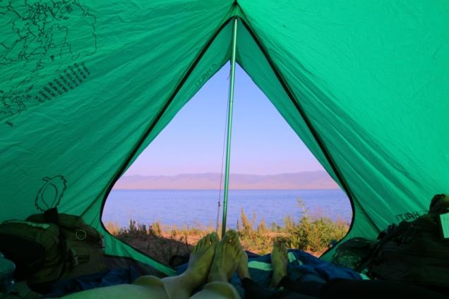 Aamunäkymät teltasta