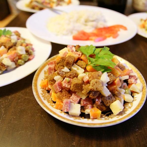 Salaattia Novosibirskissä