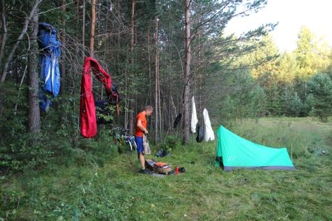 Eka telttailupaikka