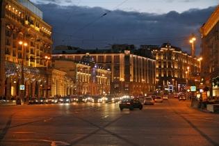 Liikennettä Moskovassa