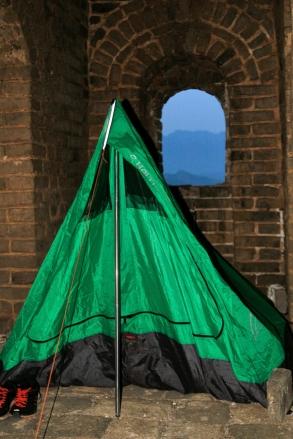 Teltta pystyssä