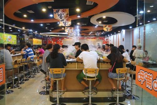Kiinalaisessa hotpot-ravintolassa