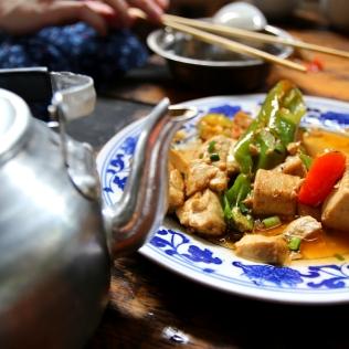 Jotain tofun tyylistä kiinalaista perinneruokaa