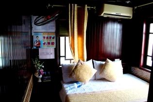 Huone paatissa, Halong Bay
