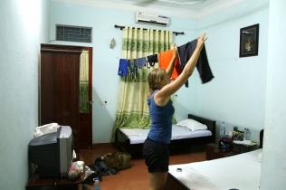 Hotelli Thai Hoassa, juoksukamat kuivamaan, 9 €