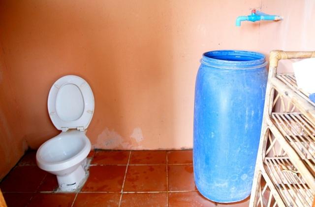 Pippurifarmin sisustettu vessa, Kep