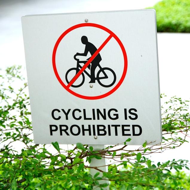 Täälläkään ei saa pyöräillä