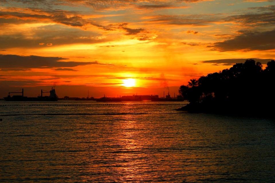 Auringonlasku, Sentosa, Singapore