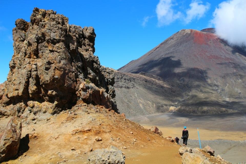 Taustalla Mount Ngauruhoe