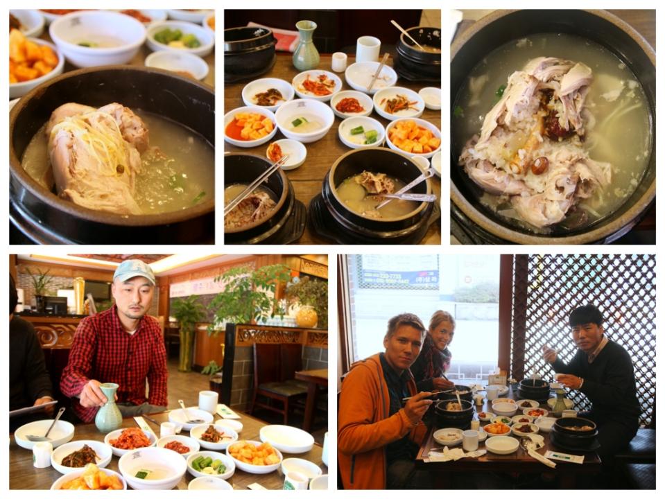 Viimeiseksi aamupalaksi kokonaiset kanat Ginseng-juurella ja riisillä