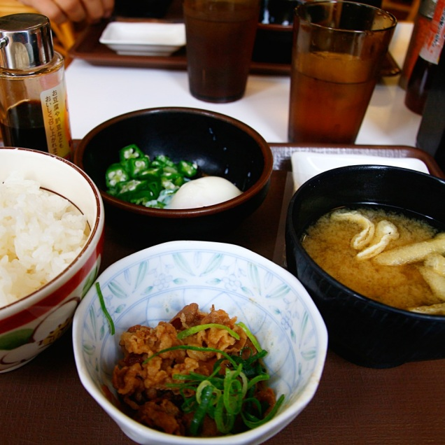 Japanilainen aamupala, Hiroshima, Japani