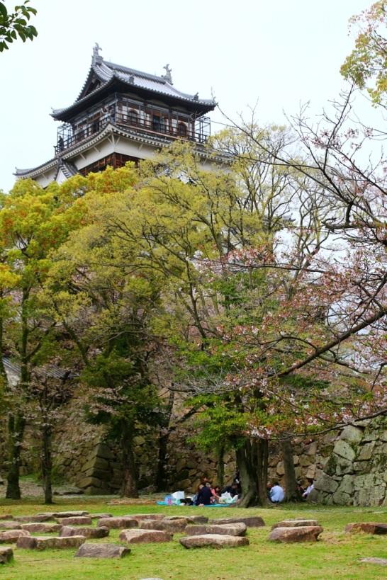 Huipulla linnan torni