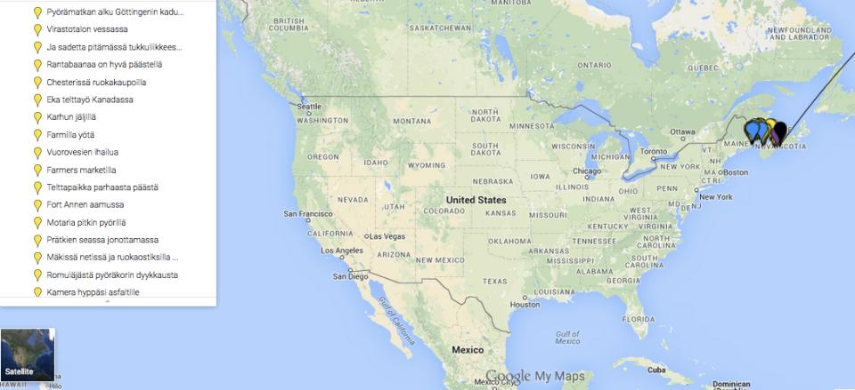 Meidät löytää kartalta