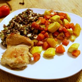 Kanaa, linssisalaattia ja vihanneksia, Boston, USA