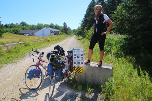 Pyöräilyteillä Mainessa