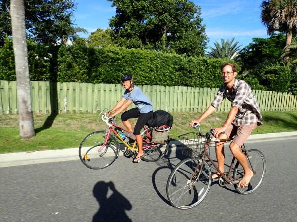 Jackin kanssa pyöräilemässä