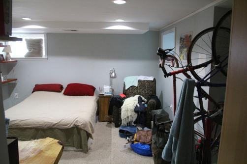 Pyöräharrastus makuuhuoneessa