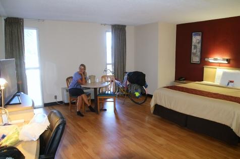 King's suites ja pyörät sisällä