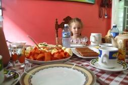 Ensimmäinen aamupala casassa