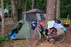 Vähän pienempi teltta
