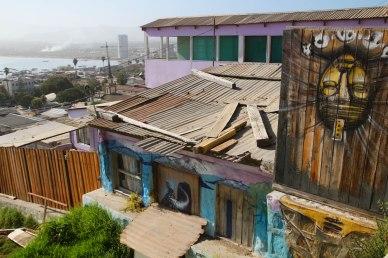 Coquimbon rakennuskantaa Chilessä