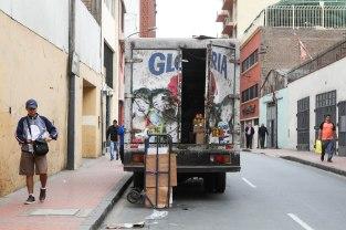 Lastausta Limassa