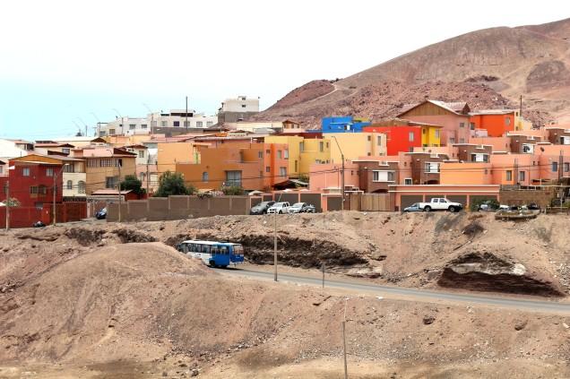 Antofagastaan saapumassa